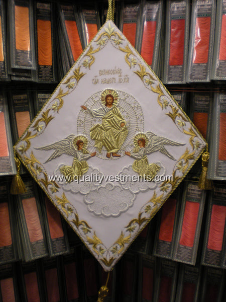 Ascension Palitsa Epigonation Shield Embroidered Gold or Silver TO ORDER