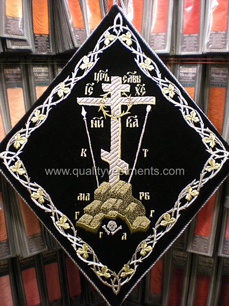 Golgotha Epigonation Palitza Palitsa Embroidered in Gold or Silver TO ORDER