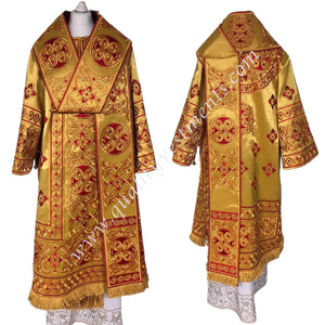 Gold Bishop's Vestments Embroidered Lightweight Burgundy embroidery TO ORDER
