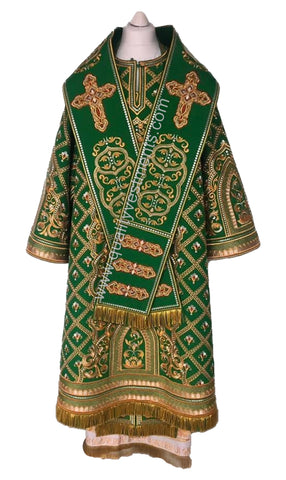 Green Bishop's Vestments LIGHTWEIGHT Fully EMBROIDERED other colors available