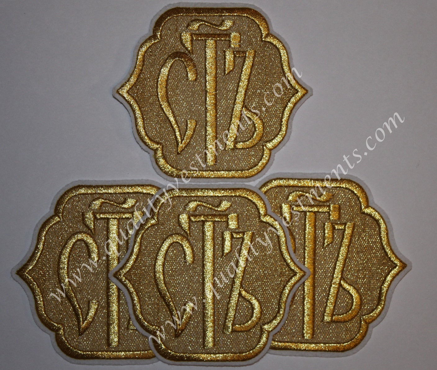 "Set: Orarion Svyat Holy Patches 4 1/2"" 12 cm Silver or Gold on Gold Black Blue"