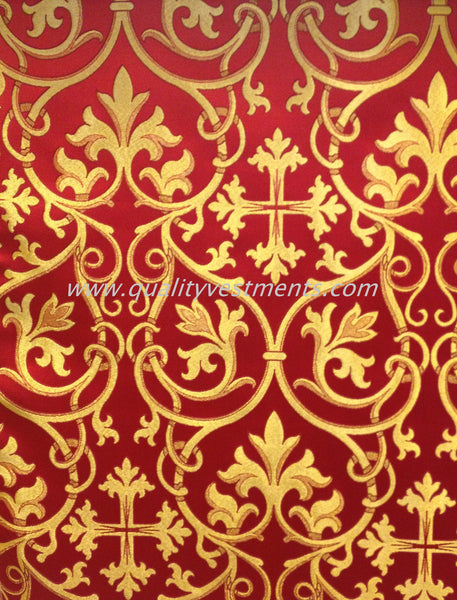 Church Liturgical Ecclesiastical Vestment Metallic Brocade Gold Blue Red Green