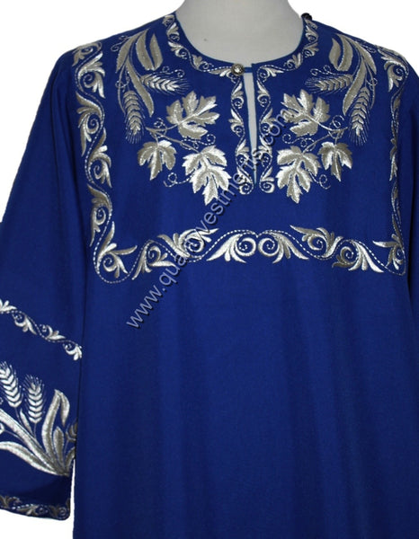 Dark Blue Deacon's vestment Embroidered LIGHTWEIGHT or any other color TO ORDER