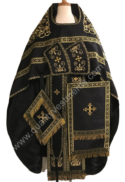 Black Embroidered Priest's vestments Orthodox  Russian Style Made To Order