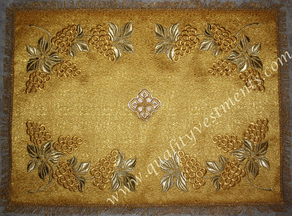 Gold Chalice Covers Veils Grapevine Embroidery READY TO SHIP FROM USA