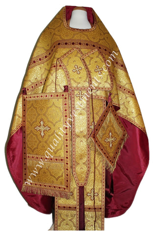 Gold Maroon Orthodox Priest Vestments Russian Style TO ORDER!
