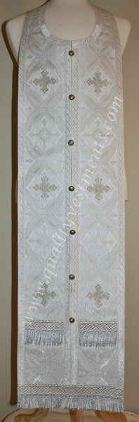 White Priest's Vestment Greek Style Metallic Brocade TO ORDER!