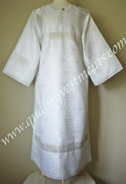 White Reader's Robe Altar Server Stikharion Acolyte robe Nonmetallic TO ORDER