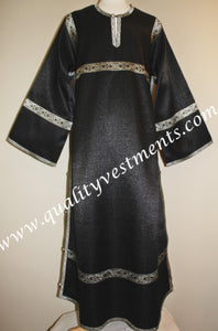 Altar Server Reader Acolyte Robe Orthodox Liturgical Vestment Black Silver To Order