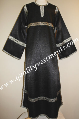 Black Altar Server Reader Acolyte Robe Orthodox Liturgical Vestment To Order