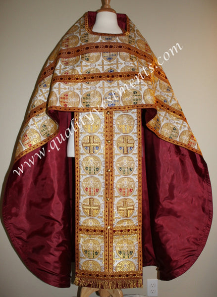 Gold Priest Vestment Metallic brocade with Icon of Christ TO ORDER!