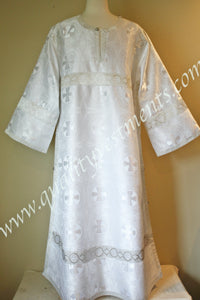 White Altar Server's Stikharion Reader's Robe Acolyte robe Nonmetallic TO ORDER