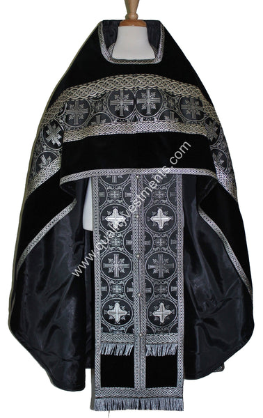 Golgotha Black Priest Vestments embroidered Russian Style Made To Order!