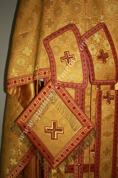 Gold Priest Vestments Greek Orthodox Nonmetallic Brocade TO ORDER!