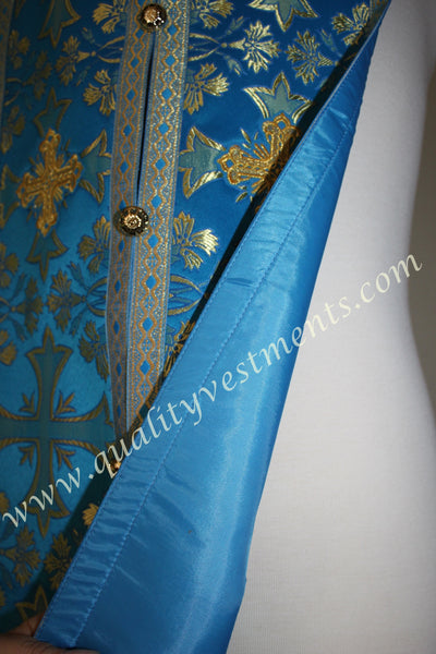 "Blue Epitrachelion Stole and cuffs  45"" 114 cm READY TO SHIP!"