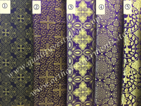 "Purple Church fabric for vestments nonmetallic 59"" 150 cm wide"