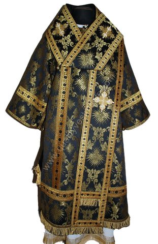 Black Bishop's vestments Grapevine nonmetallic brocade Orthodox TO ORDER