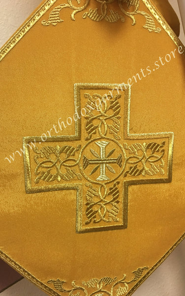 "Epigonation Palitza Icon of Theotokos Mother of God gold color 14"" 35 cm each side"