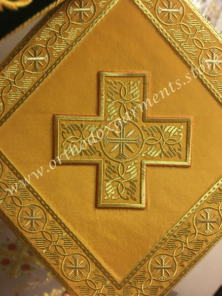 "Epigonation with icon of Christ Palitza gold 14"" 35 cm ea side"