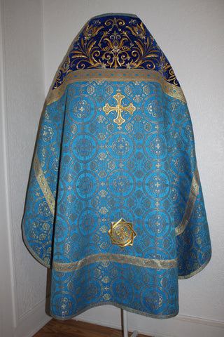 Russian Orthodox Priest vestment Russian style Embroidered blue or any color