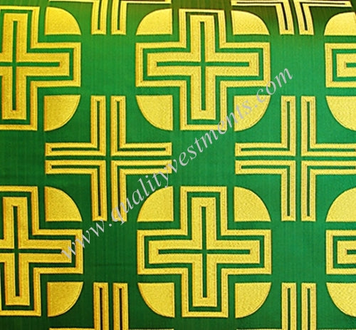 Large Cross Ecclesiastical Brocade for Vestments Gold Red Green Blue etc colors