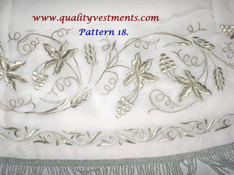 White Stikhar Alb Podsaccossnik Podriznik Embroidered Grapevine Gold or Silver #18