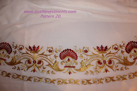 White Stikhar Alb Podsaccossnik Podriznik Embroidered Gold or Silver #20