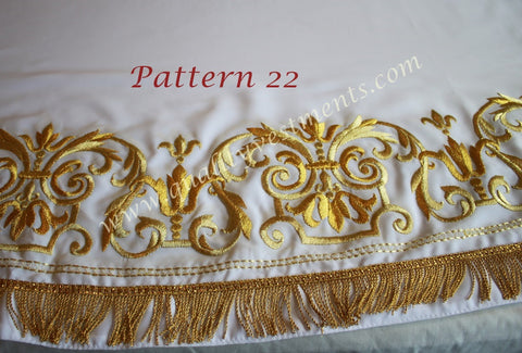White Stikhar Alb Podsaccossnik Podriznik Embroidered Gold or Silver #22