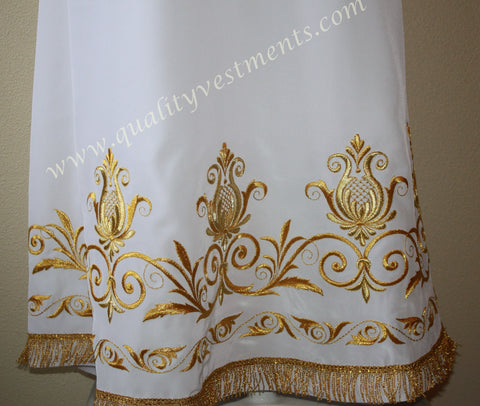 White Stikhar Alb Podsaccossnik Podriznik Embroidered Gold or Silver #24