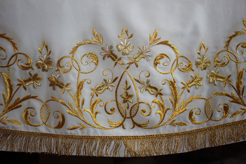 White Stikhar Alb Podsaccossnik Podriznik Embroidered Gold or Silver #25