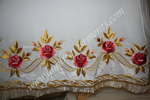 White Stikhar Alb Podsaccossnik Podriznik Embroidered Gold or Silver #26