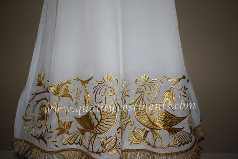 White Stikhar Alb Podsaccossnik Podriznik Embroidered Gold or Silver #27