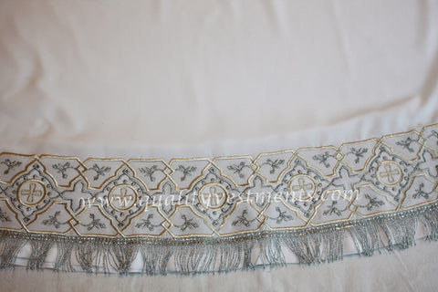 White Stikhar Alb Podsaccossnik Podriznik Embroidered Gold or Silver #29