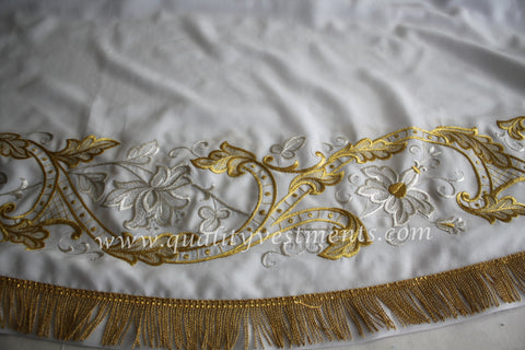 White Stikhar Alb Podsaccossnik Podriznik Embroidered Gold or Silver #30