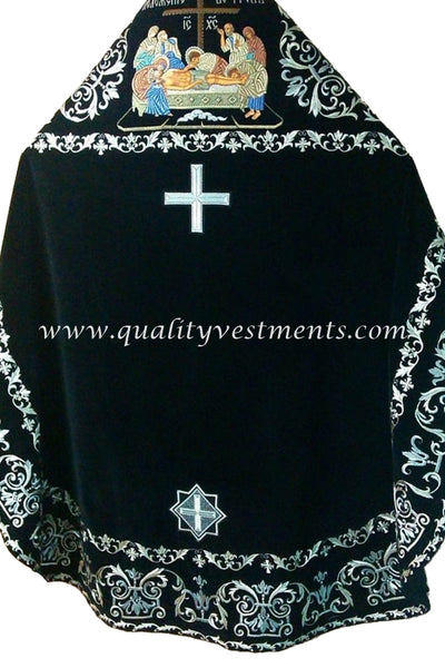 Black Embroidered Priest's Vestments Icon Russian Style To Order!