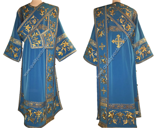 Blue Proto deacon's vestment Embroidered LIGHTWEIGHT or any other color TO ORDER