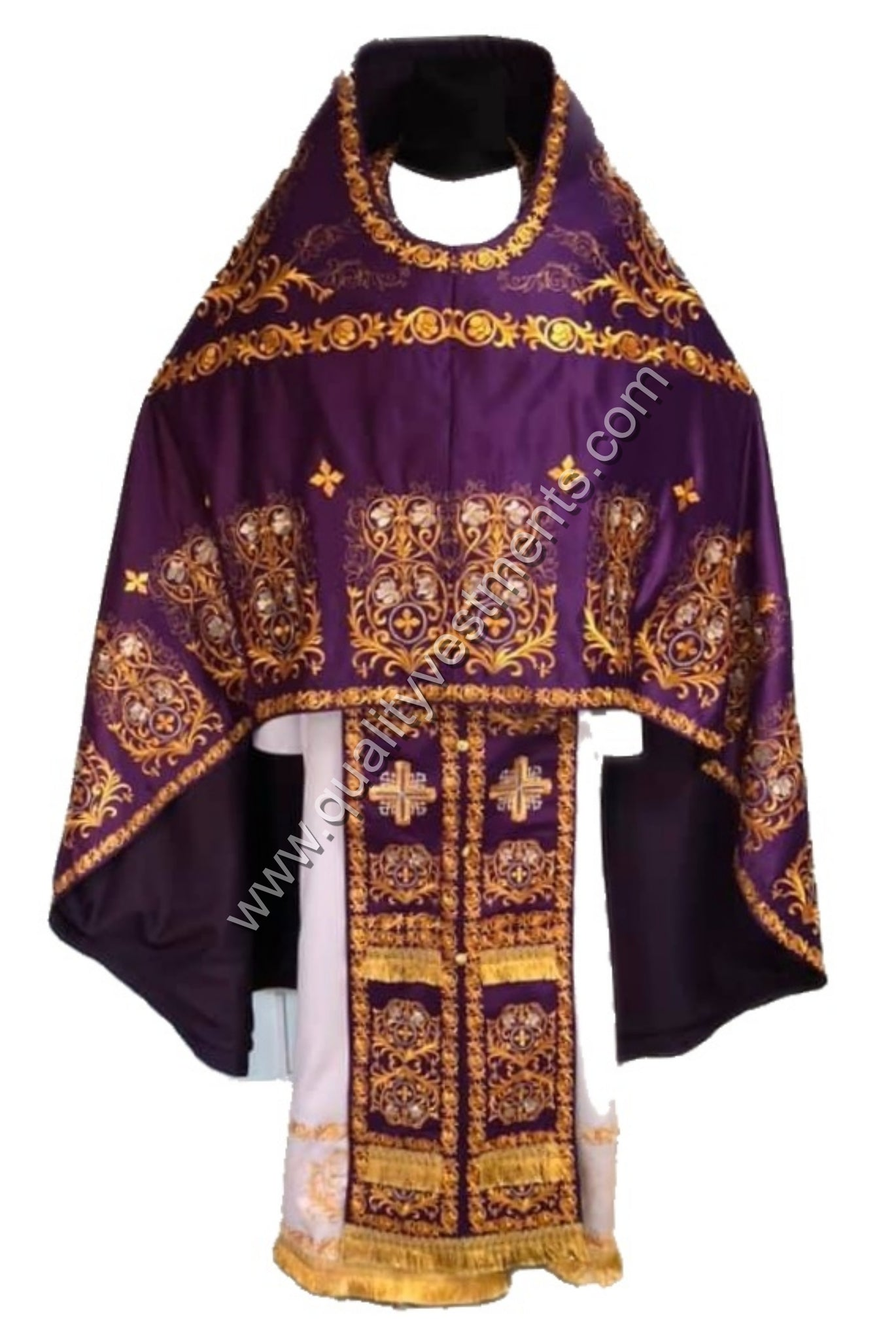 Purple Russian Style Priest's Vestment FULLY Embroidered any color TO ORDER