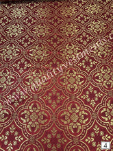 "67"" EXTRA WIDE Liturgical Vestment Red Brocade Nonmetallic Gold Crosses 7 Styles"