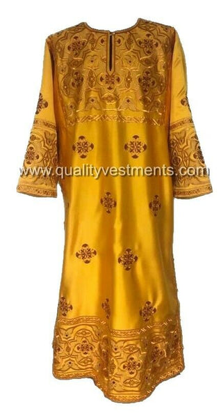 Gold Deacon's Embroidered vestments LIGHTWEIGHT with maroon accents TO ORDER