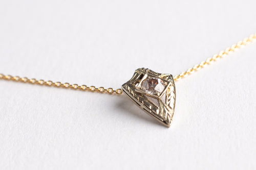 Diamond Shield Necklace