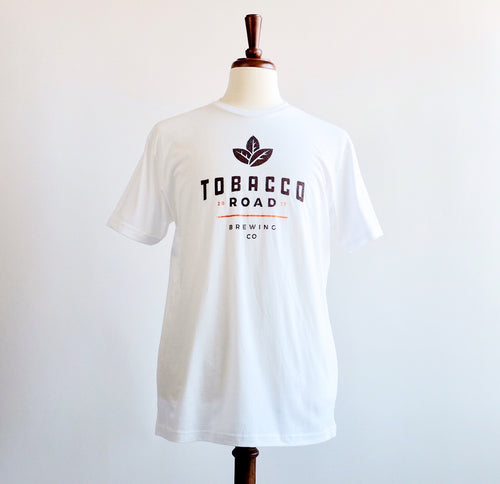 Tobacco Road Brewing White Short Sleeve Cotton T-Shirt