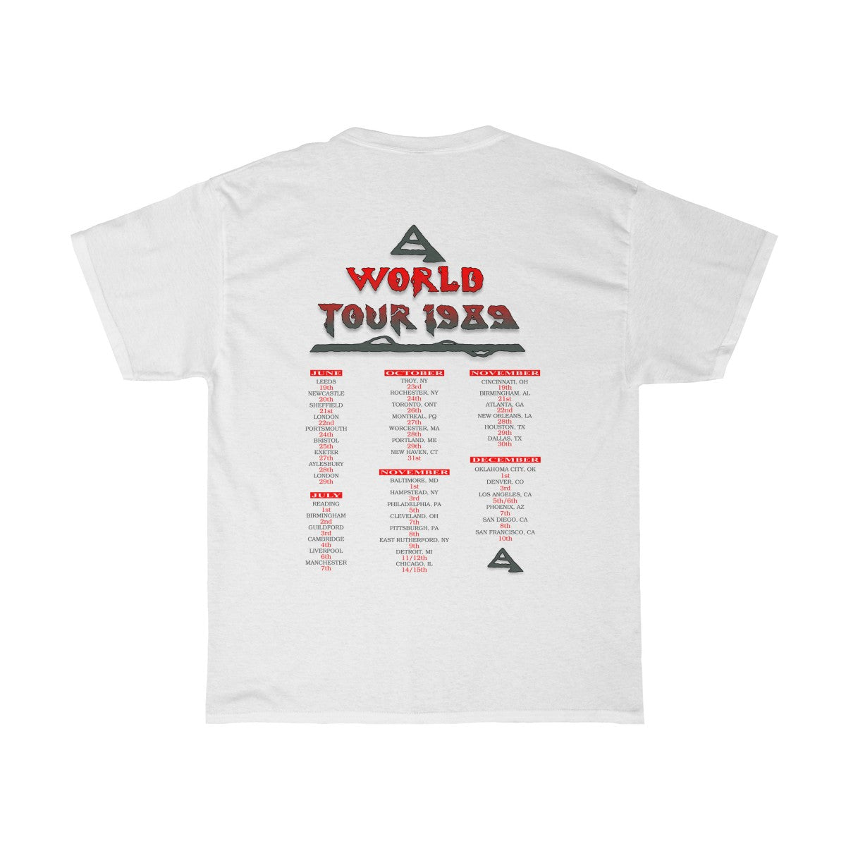 1989 World Tour Shirt. All Of The USA Dates