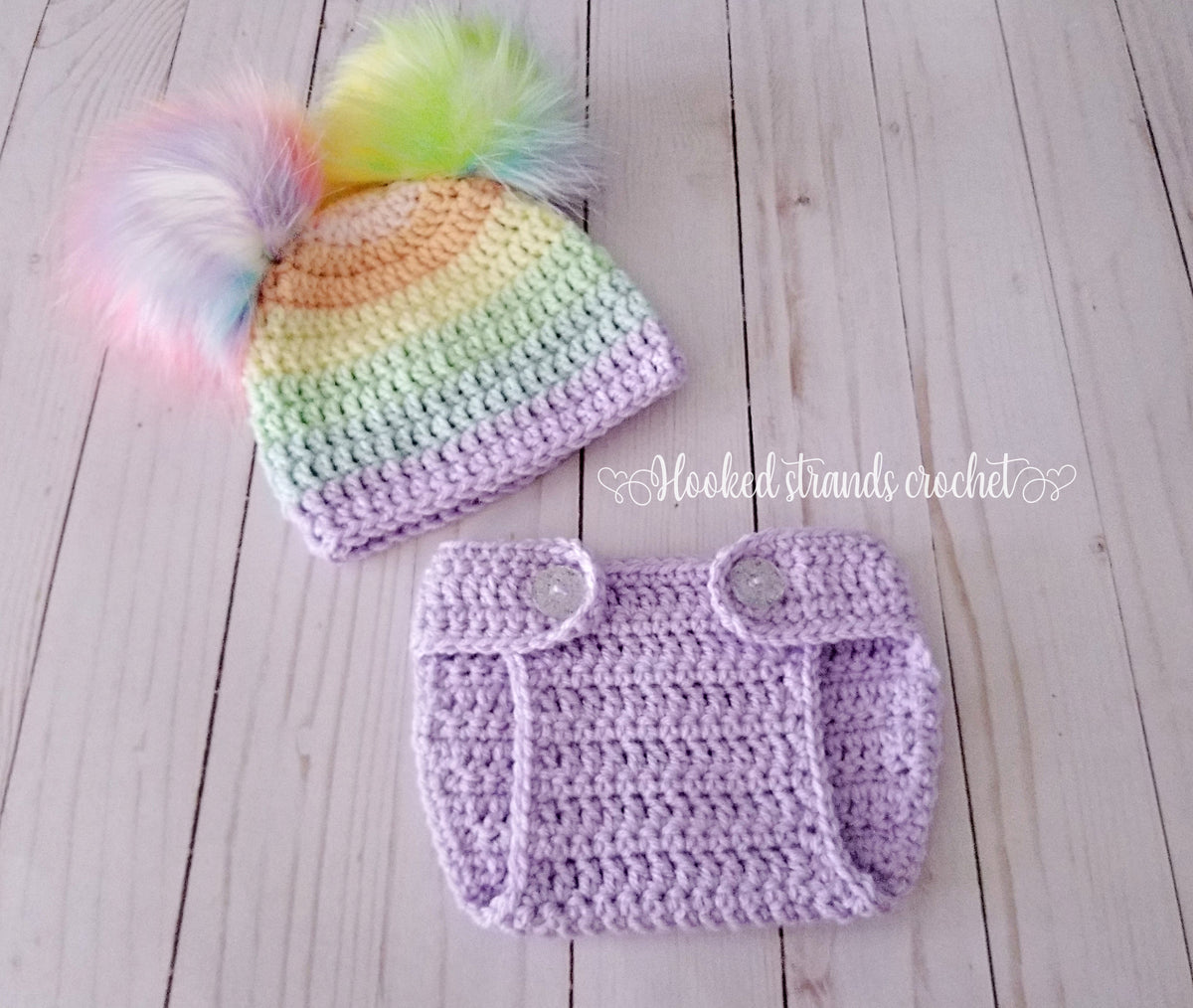 a5e011939 Hat and diaper cover sets – Hooked strands crochet