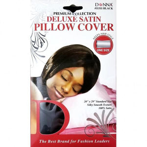 Donna Delux Satin Pillow Cover Blk