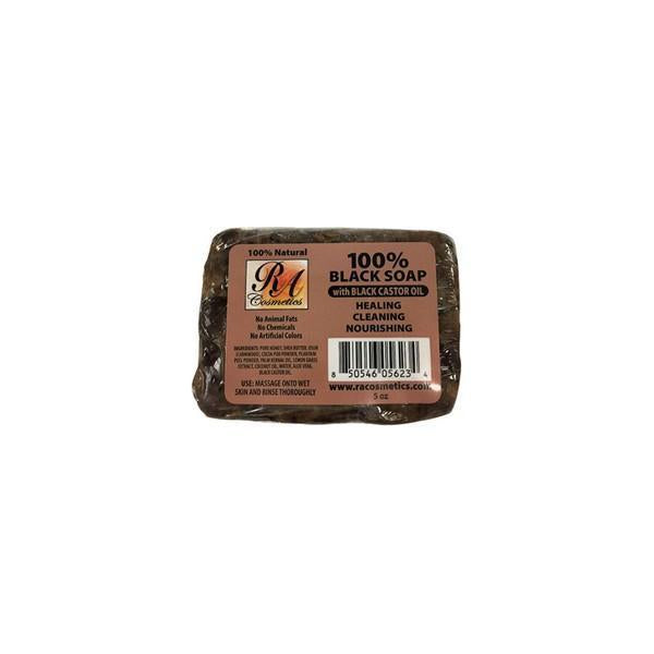 RA 100% Black Soap with Black Castor Oil 5oz.