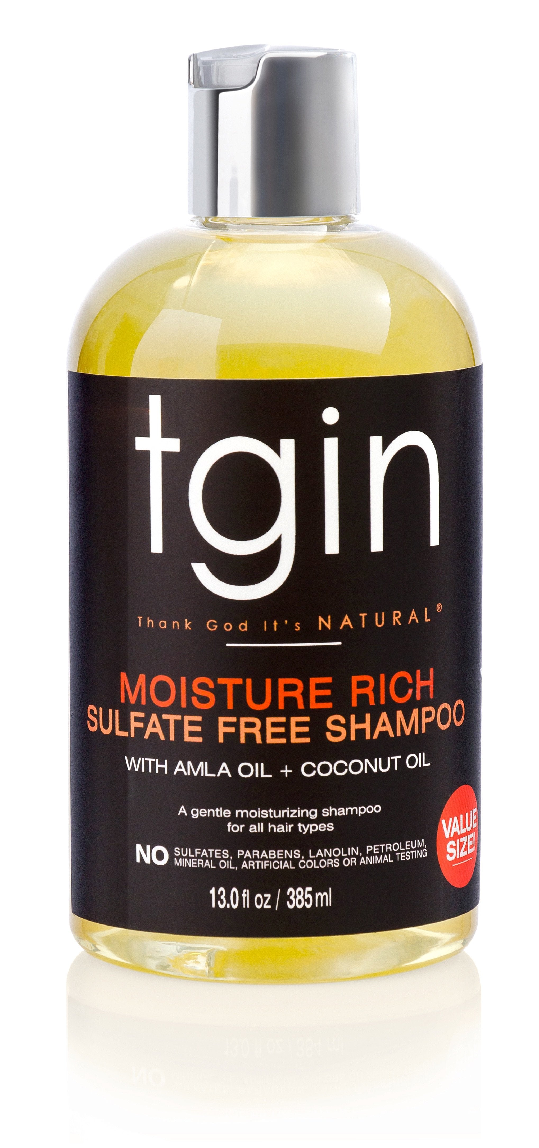 TGIN Sulfate Free Shampoo For Natural Hair 13oz