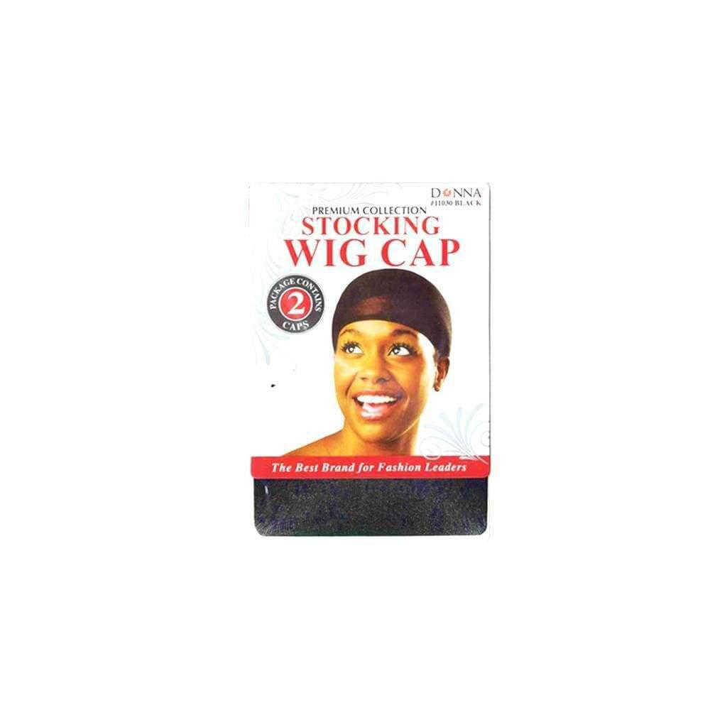 Donna Stocking Wig Cap - Blk