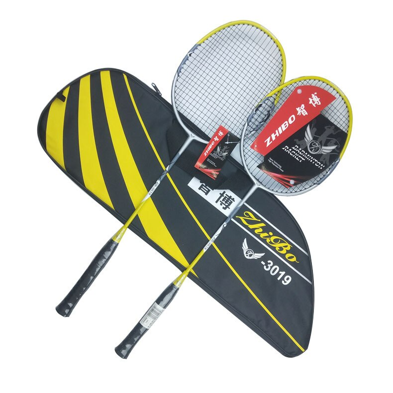 2pcs/pack Quality Carbon Fibre Badminton Rackets Super Light Durable Sports Competition Training Racquets With Strings Q1334CMC|Badminton Rackets