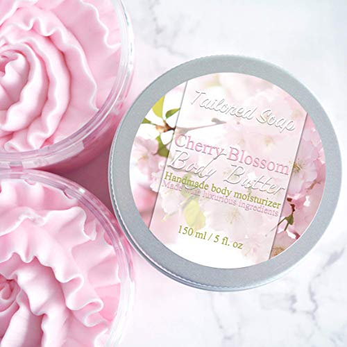 Set of 2 Whipped Cherry Blossom Scented Body Butter For Sensitive Skin - BUZOK