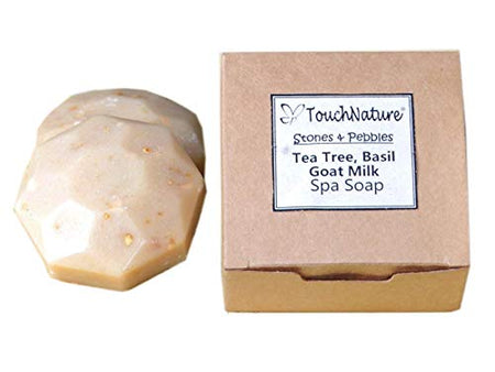 Touch Nature 2 pc 50g Goat Milk Soap with Tea Tree and Oatmeal. Cold Pressed, Vegan. Available in handmade box. - BUZOK